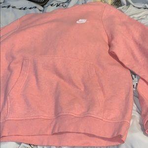 Nike pink dri-fit sweatshirt